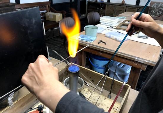 長屋敷窯とんぼ玉