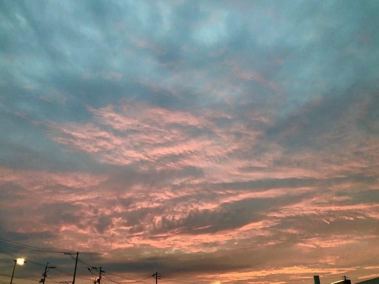 秋分の日の夕空
