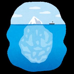 氷山の一角 潜在意識と顕在意識